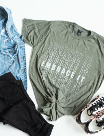 Embrace It Olive Tee